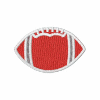 Embroidered Football RED Polo