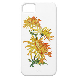 Embroidered Golden Chinese Chrysanthemum iPhone SE/5/5s Case
