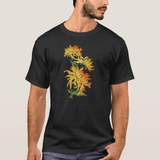 Embroidered Golden Chinese Chrysanthemum T-Shirt