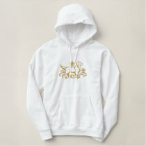 Embroidered Golden Retriever Embroidered Hoody