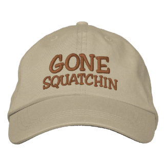 Embroidered GONE SQUATCHIN Hat - BOBO Edition Baseball Cap