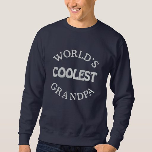 Embroidered Grandpa Gift Embroidered Sweatshirt