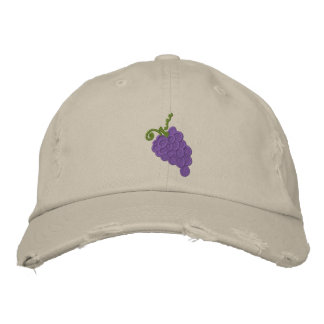 Embroidered Grapes Cap