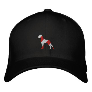 Embroidered great dane embroidered baseball cap