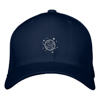 Embroidered (Grey on Dark) Fitted Cap Baseball Cap