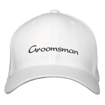 EMBROIDERED GROOM WEDDING CAP