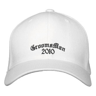 Embroidered GroomsMan Hat - 2010