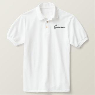 Embroidered Groomsman Wedding Apparel Embroidered Polo Shirt