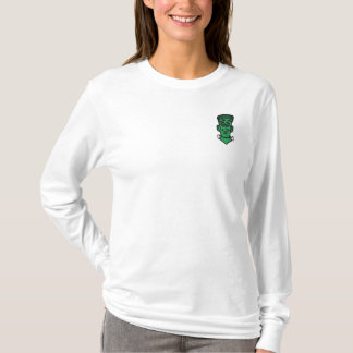 Embroidered  Halloween Frankenstein Embroidered Long Sleeve T-Shirt