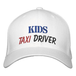 Embroidered Hat KIDS TAXI DRIVER