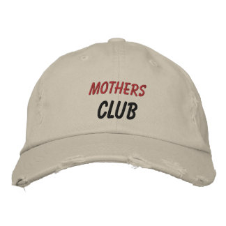 Embroidered Hat Mothers Club Embroidered Baseball Cap