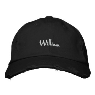 Embroidered Hat William Name