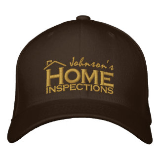 Embroidered Home Inspections Embroidered Baseball Cap