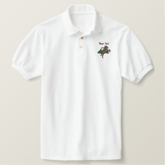 Embroidered Horse and Mountain - Add your own text Embroidered Polo Shirt