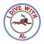 *Embroidered I Dive With Al - Custom T-Shirt