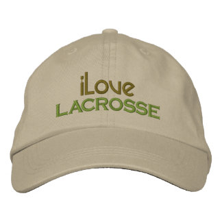 Embroidered I Love Lacrosse Cap Embroidered Baseball Cap
