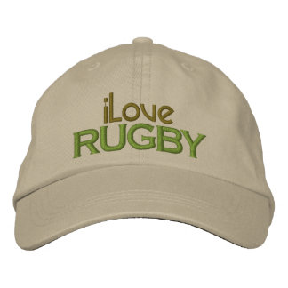 Embroidered I Love Rugby Cap Baseball Cap