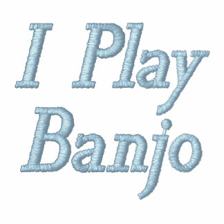 Embroidered I Play Banjo Music Hoodie