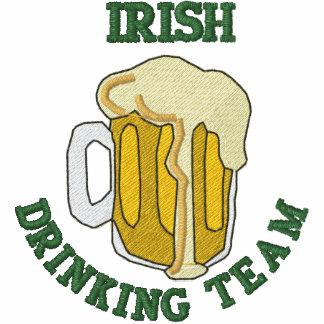 Embroidered Irish Drinking Team Polo Shirt Polo Shirts