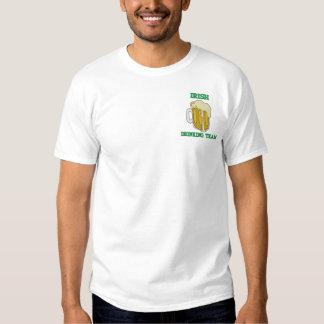 Embroidered Irish Drinking Team T-Shirt