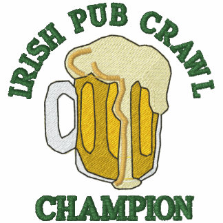 Embroidered Irish Pub Crawl Champion Polo Shirt Embroidered Shirt