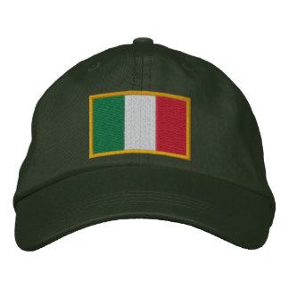 Embroidered Italian Flag Cap