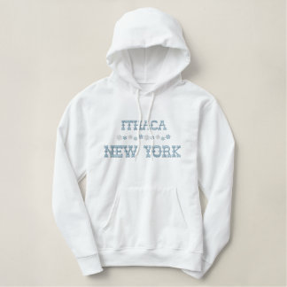 Embroidered Ithaca New York Hoodie