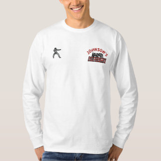 Embroidered Karate Academy Embroidered Long Sleeve T-Shirt