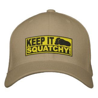 *EMBROIDERED* KEEP IT SQUATCHY! Bobo's Original Embroidered Baseball Cap