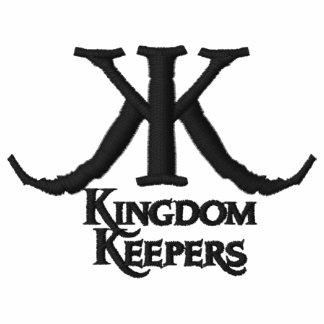 Embroidered Kingdom Keepers Polo-Black Logo Embroidered Polo Shirts