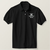 Embroidered Kingdom Keepers Polo-White KK Logo Embroidered Polo Shirt
