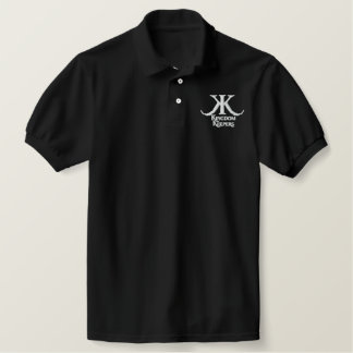 Embroidered Kingdom Keepers Polo-White KK Logo Embroidered Polo Shirt