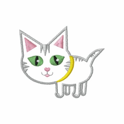 Embroidered Kitty Cat Polo Shirt