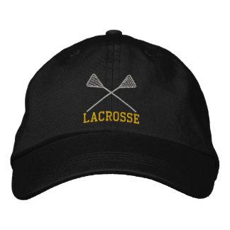 Embroidered Lacrosse Sticks Crossed Cap