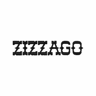 "Embroidered Ladies Zip Hoodie White ""ZIZZAGO"""