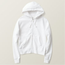 Embroidered Lady Cameo Silhouette Embroidered Hoodie