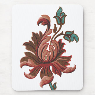 Embroidered Like Rose Flower Mouse Pad