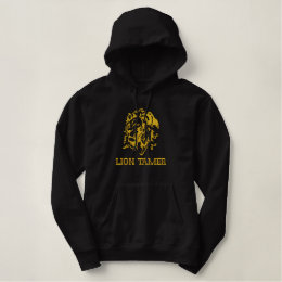 Embroidered Lion's Head Hoodie