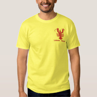 Embroidered Lobster with Custom Text Embroidered T-Shirt