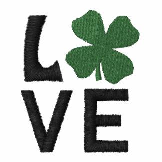 Embroidered Love Irish Polo Shirt Embroidered Shirts