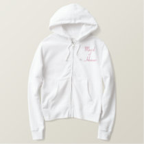 Embroidered Maid of Honor Wedding Apparel Embroidered Hoodie