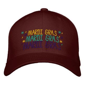 Embroidered Mardi Gras Cap 2015