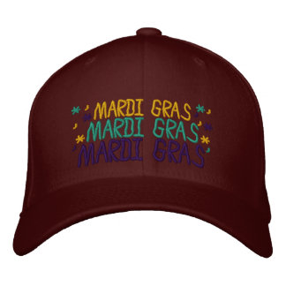 Embroidered Mardi Gras Cap 2015