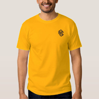 Embroidered Mens Shirt Gold Monogram Template