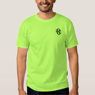 Embroidered Mens Shirt Lime Green Monogram