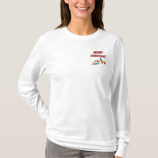 Embroidered MERRY CHRISTMAS Ladies Shirt
