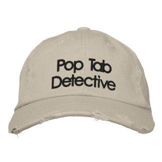 Embroidered Metal Detecting Pop Tab Detective Hat