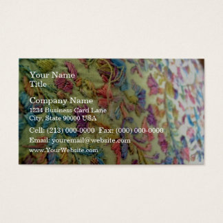 Embroidered mexican dress business card