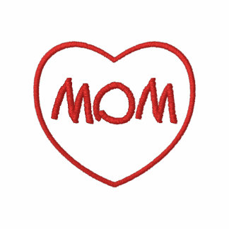 Embroidered Mom Heart