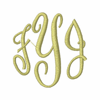 Embroidered Monogram Initials  Long Sleeve Tees
